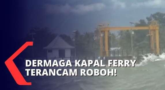 Paling Baru, Gelombang Tinggi Akibat Cuaca Ekstrem di Perairan Sikka, Dermaga Ferry Terancam Roboh!