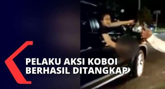 Paling Baru, Sempat Viral, Pelaku Aksi Koboi di Duren Sawit Ditangkap dan Jalani Pemeriksaan di Polda Metro Jaya