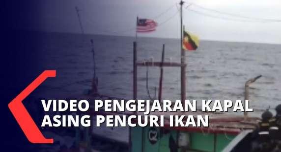 Hmmm, Detikdetik Petugas KKP Tangkap Belasan Kapal Asing Pencuri Ikan di Perairan Natuna