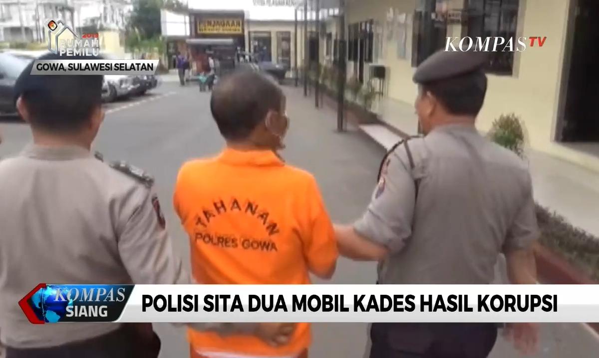 polisi-sita-dua-mobil-kades-hasil-korupsi-dana-desa